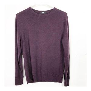 Uni Qlo V-Neck 100% Wool Lightweight Sweater XL